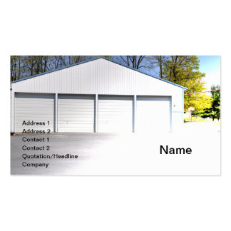 row of commercial garages business card