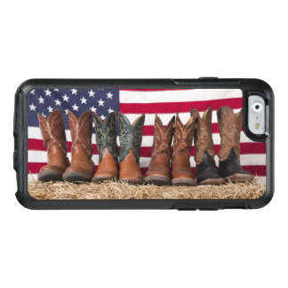 Row of cowboy boots on haystack OtterBox iPhone 6/6s case