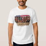 Row of cowboy boots on haystack T-Shirt