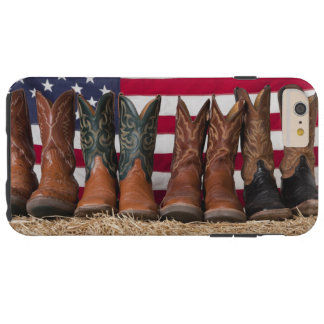 Row of cowboy boots on haystack tough iPhone 6 plus case