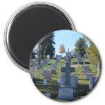 Row of Cross Headstones, Arlington 2 Inch Round Magnet