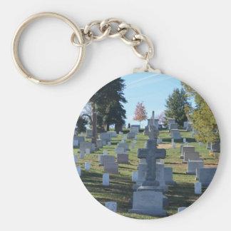 Row of Cross Headstones Arlington Key Chain