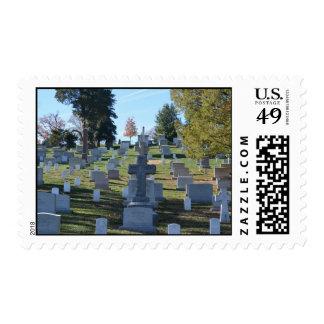 Row of Cross Headstones, Arlington Postage Stamps