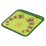 Row of Cute Butterflies iPad Sleeve
