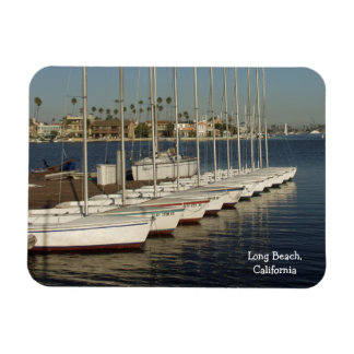 Row of Docked Sailboats Magnet