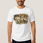 Row of dominoes on old world map 2 t-shirt