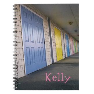 Row Of Doors Spiral Notebook