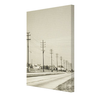 Row of Electricity Poles Canvas Print