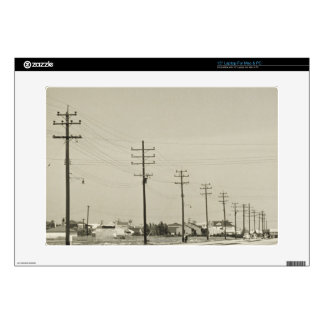 Row of Electricity Poles Decals For Laptops
