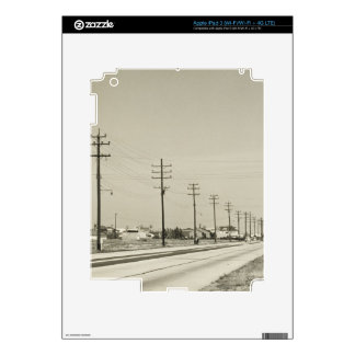 Row of Electricity Poles iPad 3 Decals