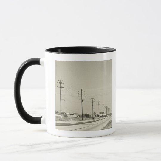 Row of Electricity Poles Mug