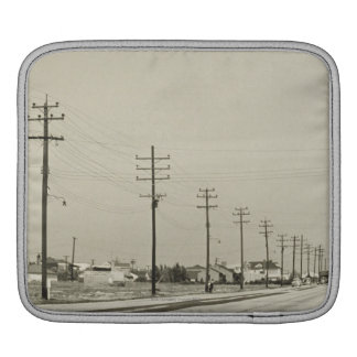 Row of Electricity Poles Sleeve For iPads