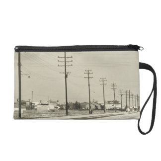 Row of Electricity Poles Wristlet Purse