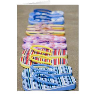 Row Of Flip-Flops Card