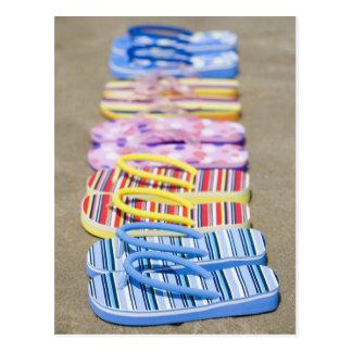 Row Of Flip-Flops Postcard
