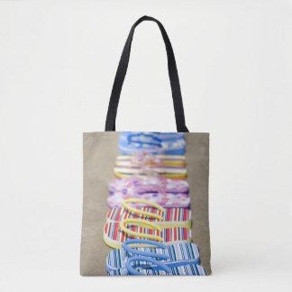 Row Of Flip-Flops Tote Bag