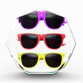 Row of funky coloured glasses award