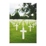 Row of Headstones Arlington National Cemetery Stretched Canvas Prints