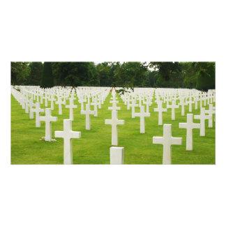 Row of Headstones Arlington National Cemetery Card