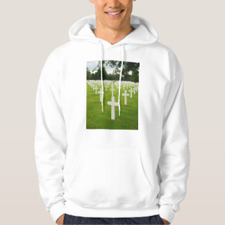 Row of Headstones Arlington National Cemetery Hooded Pullover