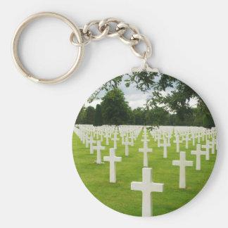 Row of Headstones Arlington National Cemetery Key Chain