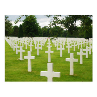 Row of Headstones Arlington National Cemetery Postcard