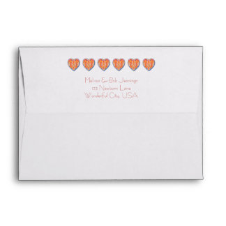 Row of Hearts Envelope