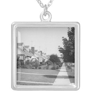 Row of Houses Silver Plated Necklace
