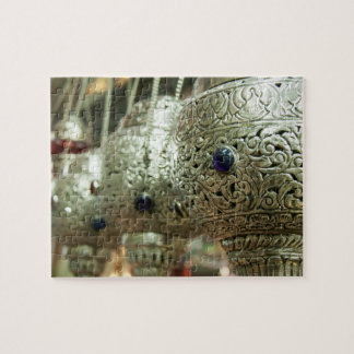 Row of incense burner in market jigsaw puzzle