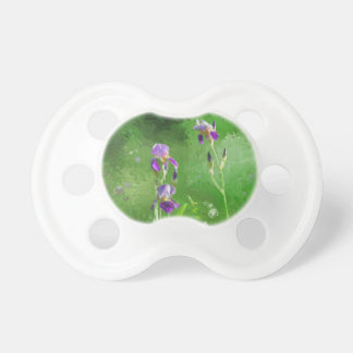 Row Of Irises Pacifier