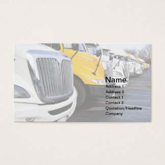 row of large trucks business card