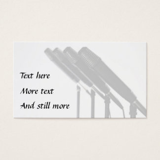 Row of microphones photo music business card