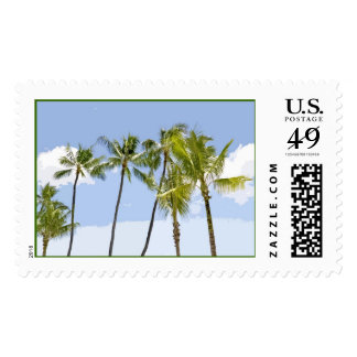 Row of Palm Trees Postage