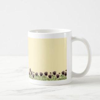 Row of Pansies Mug
