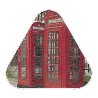 Row of phone boxes at the back of the Royal Bluetooth Speaker