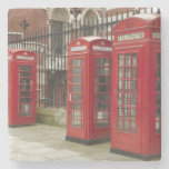 Row of phone boxes at the back of the Royal Stone Beverage Coaster