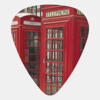Row of phone boxes at the back of the Royal Guitar Pick