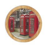 Row of phone boxes at the back of the Royal Round Cheese Board
