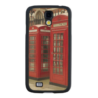 Row of phone boxes at the back of the Royal Carved® Maple Galaxy S4 Slim Case