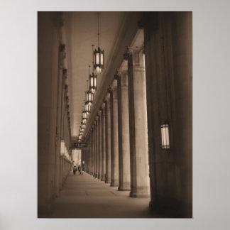 Row of Pillars - Civic Opera House - Chicago Poster