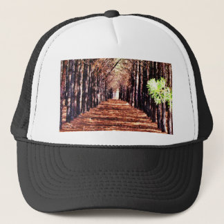 Row of Pine Trees in Forest Trucker Hat