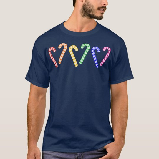 Row of Rainbow Candy Canes T-Shirt