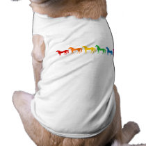 Row of Rainbow Color Horses Shirt