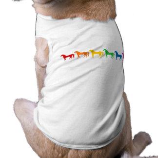 Row of Rainbow Color Horses Shirt