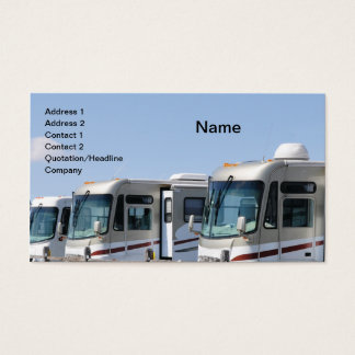 row of recreational vehicles business card