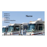 row of recreational vehicles business card templates