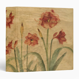 Row of Red Amaryllis Binder