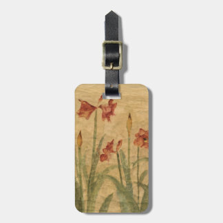Row of Red Amaryllis Tag For Bags