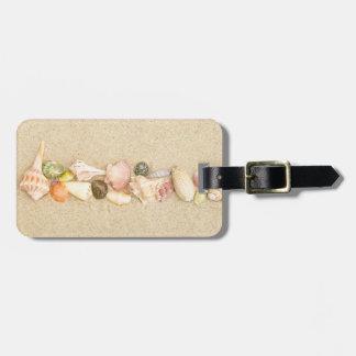 Row of Sea Shells Bag Tags
