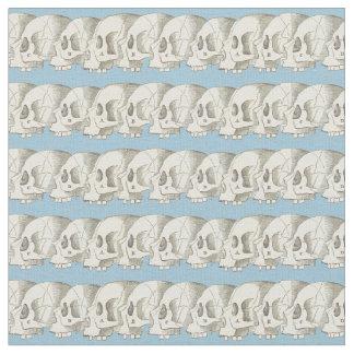 Row of Skulls Fabric